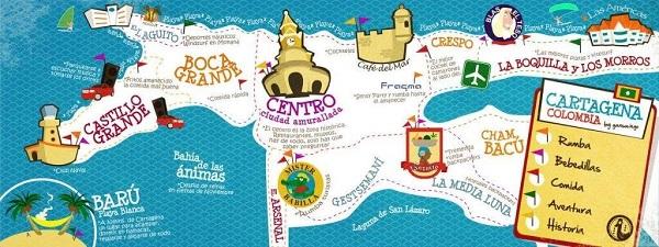 Zonas de interés en Cartagena